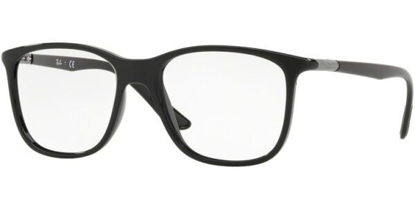 Dioptrické brýle Ray-Ban® model 7143, barva obruby černá lesk, stranice černá lesk, kód barevné varianty 2000.