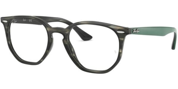 Dioptrické brýle Ray-Ban® model 7151, barva obruby šedá zelená lesk, stranice zelená mat, kód barevné varianty 5800.
