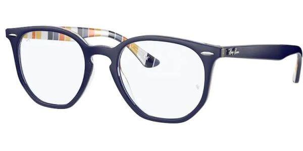 Dioptrické brýle Ray-Ban® model 7151, barva obruby modrá oranžová lesk, stranice modrá oranžová lesk, kód barevné varianty 8091.