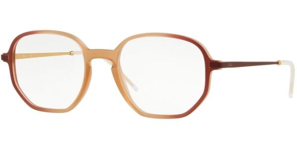 Dioptrické brýle Ray-Ban® model 7152, barva obruby hnědá červená mat, stranice červená mat, kód barevné varianty 5793.