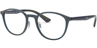 Dioptrické brýle Ray-Ban® model 7156, barva obruby modrá lesk, stranice modrá lesk, kód barevné varianty 5796.