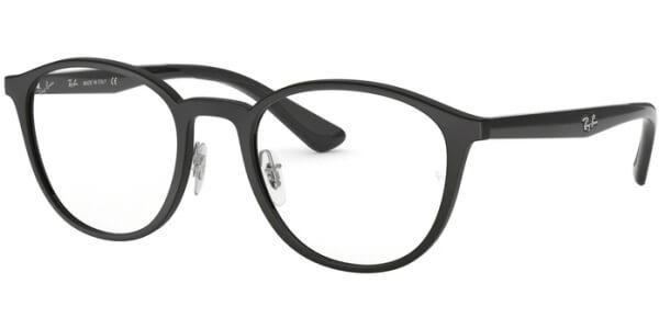 Dioptrické brýle Ray-Ban® model 7156, barva obruby černá mat, stranice černá lesk, kód barevné varianty 5841.