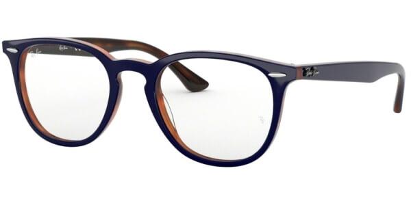 Dioptrické brýle Ray-Ban® model 7159, barva obruby modrá hnědá lesk, stranice modrá hnědá lesk, kód barevné varianty 5910.