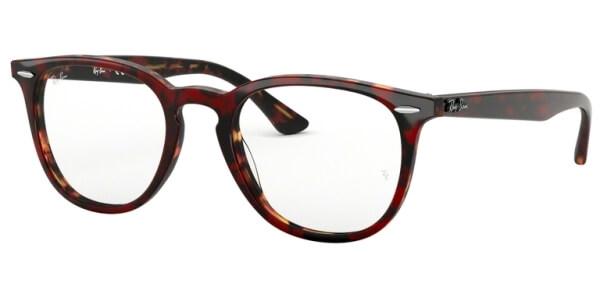 Dioptrické brýle Ray-Ban® model 7159, barva obruby hnědá červená lesk, stranice hnědá červená lesk, kód barevné varianty 5911.