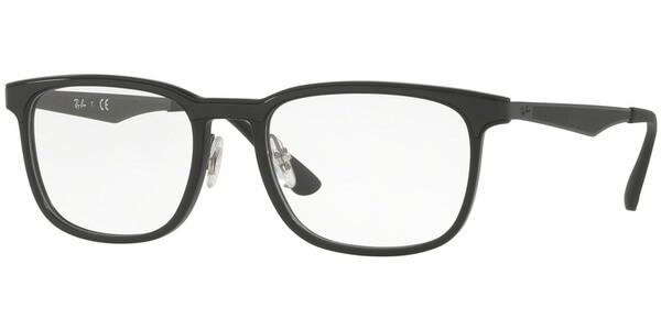 Dioptrické brýle Ray-Ban® model 7163, barva obruby černá mat, stranice černá mat, kód barevné varianty 5196.