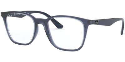 Dioptrické brýle Ray-Ban® model 7177, barva obruby modrá čirá lesk, stranice modrá lesk, kód barevné varianty 5995.