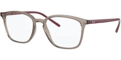 Dioptrické brýle Ray-Ban® model 7185, barva obruby šedá čirá lesk, stranice vínová lesk, kód barevné varianty 8083.