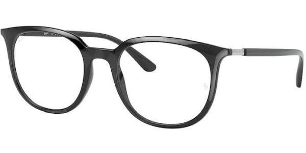 Dioptrické brýle Ray-Ban® model 7190, barva obruby černá lesk, stranice černá lesk, kód barevné varianty 2000.