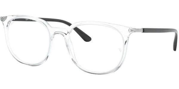 Dioptrické brýle Ray-Ban® model 7190, barva obruby čirá lesk, stranice černá lesk, kód barevné varianty 5943.