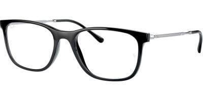 Dioptrické brýle Ray-Ban® model 7244, barva obruby černá lesk, stranice stříbrná lesk, kód barevné varianty 2000.