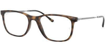 Dioptrické brýle Ray-Ban® model 7244, barva obruby hnědá lesk, stranice šedá lesk, kód barevné varianty 2012.