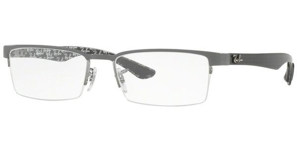 Dioptrické brýle Ray-Ban® model 8412, barva obruby šedá lesk, stranice šedá mat, kód barevné varianty 2893.