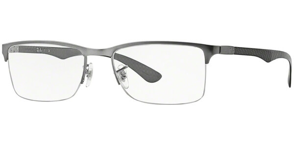 Dioptrické brýle Ray-Ban® model 8413, barva obruby stříbrná mat, stranice šedá lesk, kód barevné varianty 2620.