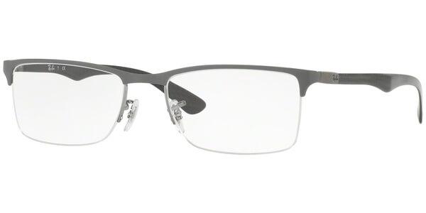 Dioptrické brýle Ray-Ban® model 8413, barva obruby šedá lesk, stranice černá lesk, kód barevné varianty 2893.