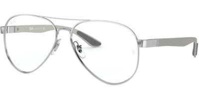 Dioptrické brýle Ray-Ban® model 8420, barva obruby stříbrná lesk, stranice šedá lesk, kód barevné varianty 2501.