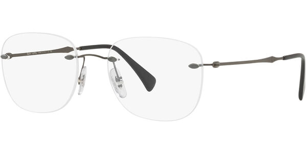 Dioptrické brýle Ray-Ban® model 8748, barva obruby šedá mat, stranice šedá mat, kód barevné varianty 1128.