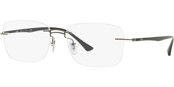 Dioptrické brýle Ray-Ban® model 8750, barva obruby šedá mat, stranice šedá mat, kód barevné varianty 1128.
