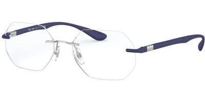 Dioptrické brýle Ray-Ban® model 8765, barva obruby stříbrná lesk, stranice modrá mat, kód barevné varianty 1216.