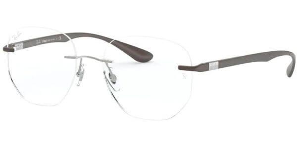 Dioptrické brýle Ray-Ban® model 8766, barva obruby hnědá lesk, stranice hnědá mat, kód barevné varianty 1131.