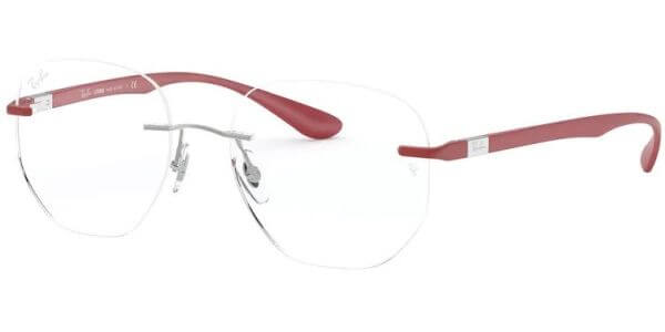Dioptrické brýle Ray-Ban® model 8766, barva obruby stříbrná lesk, stranice červená mat, kód barevné varianty 1215.