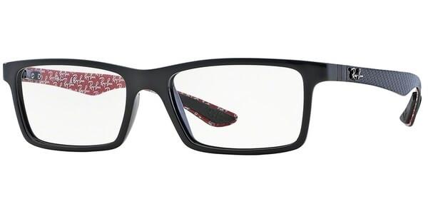 Dioptrické brýle Ray-Ban® model 8901, barva obruby černá lesk, stranice černá červená mat, kód barevné varianty 2000.