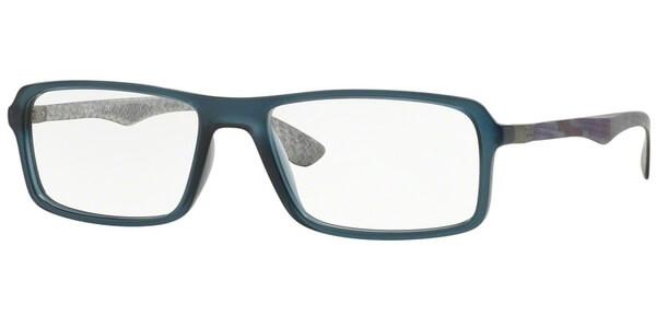 Dioptrické brýle Ray-Ban® model 8902, barva obruby modrá mat, stranice vínová mat, kód barevné varianty 5480.