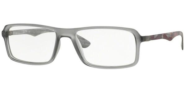 Dioptrické brýle Ray-Ban® model 8902, barva obruby šedá mat, stranice vínová červená mat, kód barevné varianty 5481.