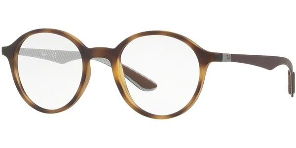 Dioptrické brýle Ray-Ban® model 8904, barva obruby hnědá mat, stranice hnědá mat, kód barevné varianty 5200.