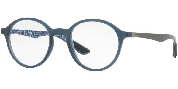 Dioptrické brýle Ray-Ban® model 8904, barva obruby modrá mat, stranice šedá mat, kód barevné varianty 5262.