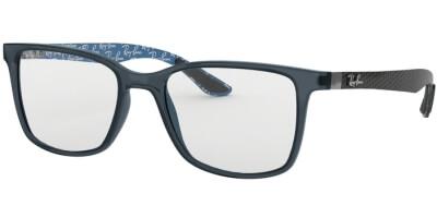 Dioptrické brýle Ray-Ban® model 8905, barva obruby modrá čirá lesk, stranice šedá mat, kód barevné varianty 5844.