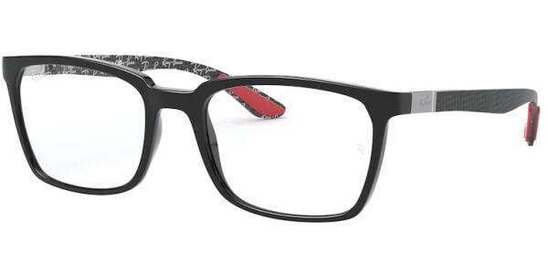 Dioptrické brýle Ray-Ban® model 8906, barva obruby černá lesk, stranice černá mat, kód barevné varianty 2000.