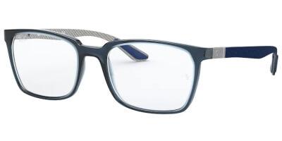 Dioptrické brýle Ray-Ban® model 8906, barva obruby modrá čirá lesk, stranice modrá šedá mat, kód barevné varianty 8060.