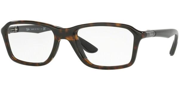 Dioptrické brýle Ray-Ban® model 8952, barva obruby hnědá lesk, stranice šedá lesk, kód barevné varianty 5604.