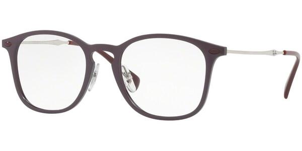 Dioptrické brýle Ray-Ban® model 8954, barva obruby fialová mat, stranice stříbrná lesk, kód barevné varianty 8031.