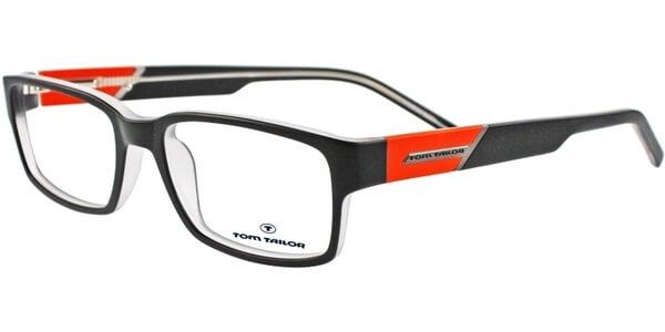 Dioptrické brýle Tom Tailor model 60285, barva obruby černá mat, stranice černá oranžová mat, kód barevné varianty 514.