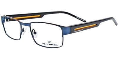 Dioptrické brýle Tom Tailor model 60287, barva obruby modrá mat, stranice modrá oranžová mat, kód barevné varianty 527.
