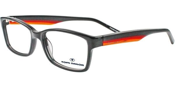Dioptrické brýle Tom Tailor model 60291, barva obruby černá lesk, stranice šedá červená lesk, kód barevné varianty 535.