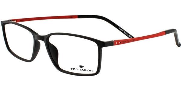 Dioptrické brýle Tom Tailor model 60344, barva obruby černá mat, stranice červená mat, kód barevné varianty 526.