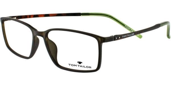 Dioptrické brýle Tom Tailor model 60344, barva obruby zelená mat, stranice Hnědá mat, kód barevné varianty 527.