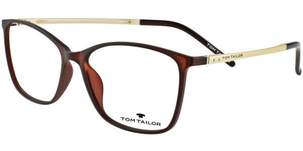 Dioptrické brýle Tom Tailor model 60345, barva obruby hnědá mat, stranice béžová mat, kód barevné varianty 528.