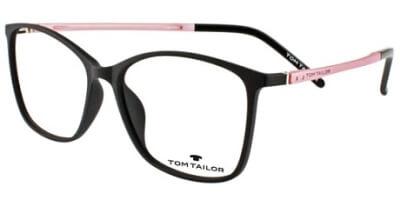 Dioptrické brýle Tom Tailor model 60345, barva obruby černá mat, stranice růžová mat, kód barevné varianty 530.