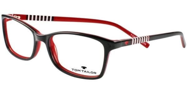 Dioptrické brýle Tom Tailor model 60346, barva obruby černá lesk, stranice černá bílá lesk, kód barevné varianty 636.