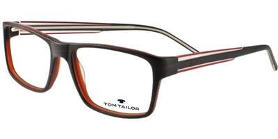 Dioptrické brýle Tom Tailor model 60350, barva obruby hnědá mat, stranice černá čirá mat, kód barevné varianty 650.