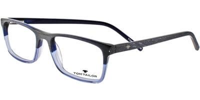 Dioptrické brýle Tom Tailor model 60356, barva obruby šedá modrá mat, stranice šedá mat, kód barevné varianty 666.