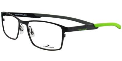 Dioptrické brýle Tom Tailor model 60357, barva obruby černá mat, stranice zelená mat, kód barevné varianty 100.
