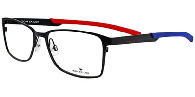 Dioptrické brýle Tom Tailor model 60358, barva obruby černá mat, stranice černá modrá mat, kód barevné varianty 103.