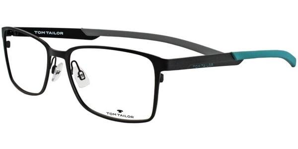 Dioptrické brýle Tom Tailor model 60358, barva obruby černá mat, stranice černá tyrkysová mat, kód barevné varianty 104.