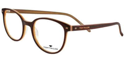 Dioptrické brýle Tom Tailor model 60386, barva obruby hnědá béžová lesk, stranice hnědá béžová mat, kód barevné varianty 203.