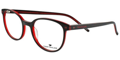 Dioptrické brýle Tom Tailor model 60386, barva obruby černá červená lesk, stranice černá červená lesk, kód barevné varianty 204.