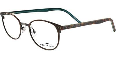 Dioptrické brýle Tom Tailor model 60394, barva obruby hnědá mat, stranice hnědá tyrkysová mat, kód barevné varianty 250.